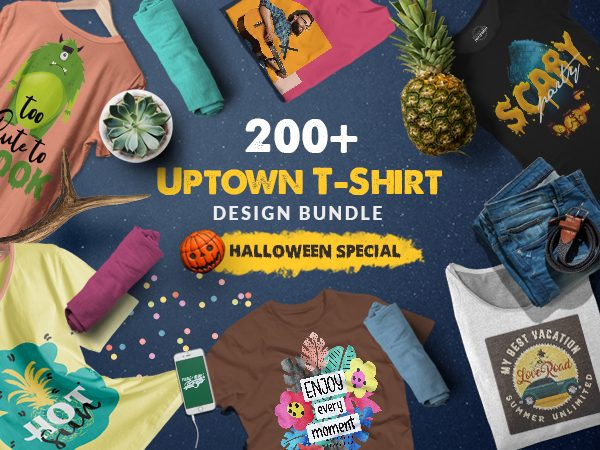 Uptown T-Shirt Design Bundle Of 200+ Styles In 9 Variants - FI