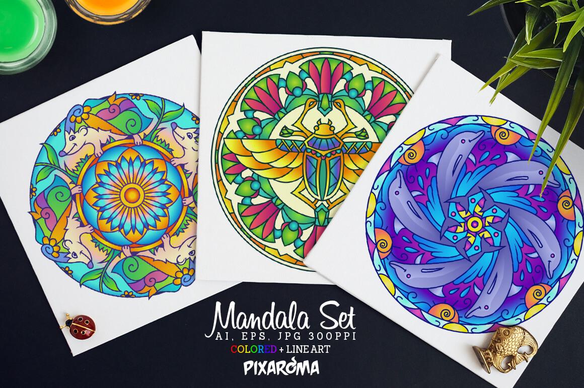 Bundle Of Mandala Ornaments - Animals