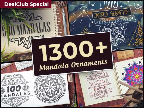1300+ Mandala Ornaments For A Spiritual & Graphical Awakening | DealClub