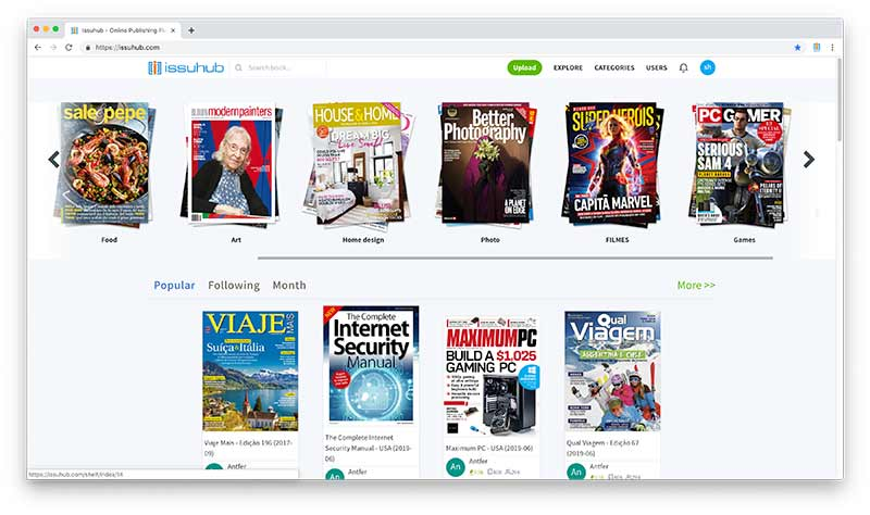 Issuhub Digital Publishing Platform For Windows & Mac - shelves
