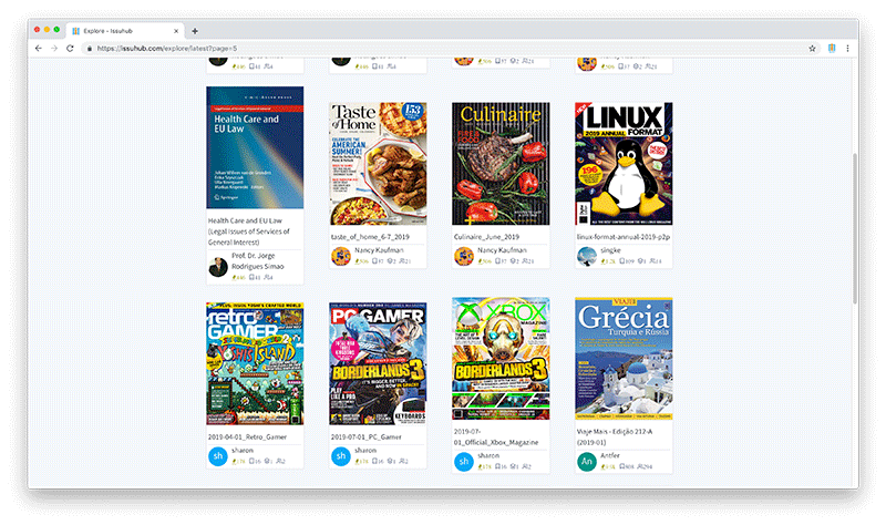 Issuhub Digital Publishing Platform For Windows & Mac - thumbnails
