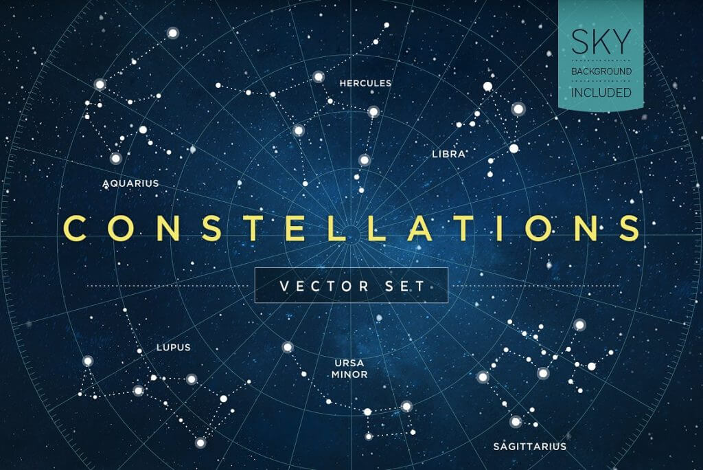 Creative Graphic Design - Cosmic Bundle: Constellation Set-1 - 1