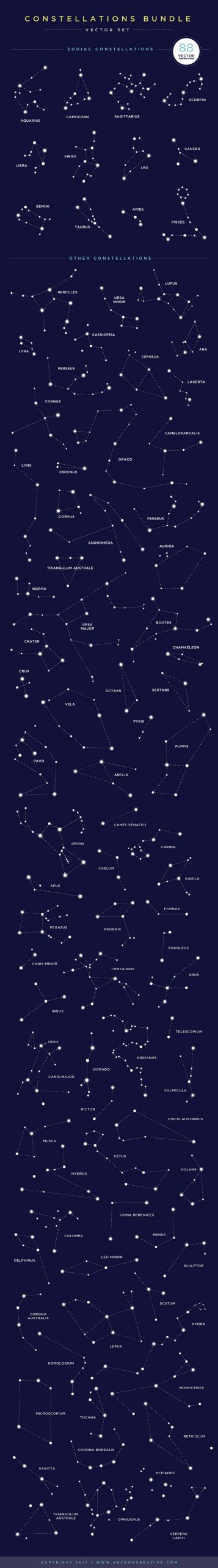 Creative Graphic Design - Cosmic Bundle: Constellation Set-1 - 3