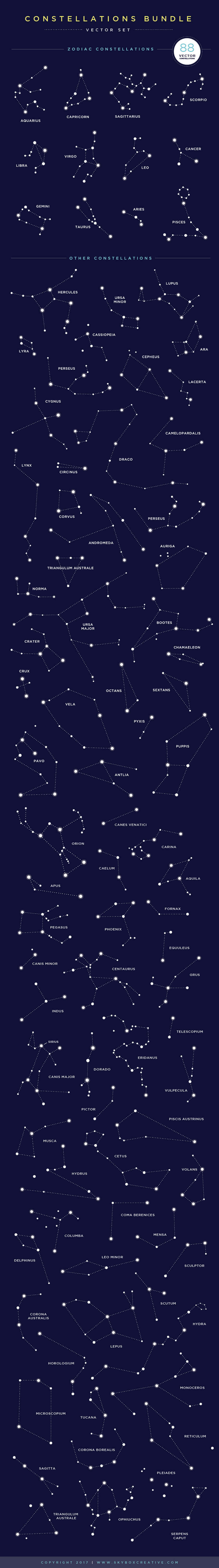 Creative Graphic Design - Cosmic Bundle: Constellation Set-1 - 3