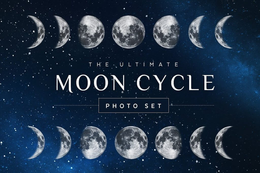 Creative Graphic Design - Cosmic Bundle: Moon Cycle - 1