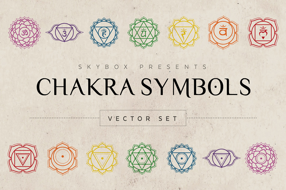 Creative Graphic Design - Cosmic Bundle: Chakra Symbols - 2