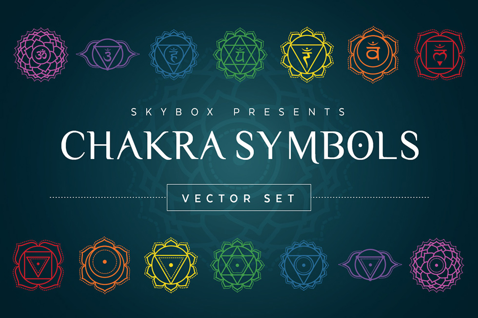 Creative Graphic Design - Cosmic Bundle: Chakra Symbols - 1