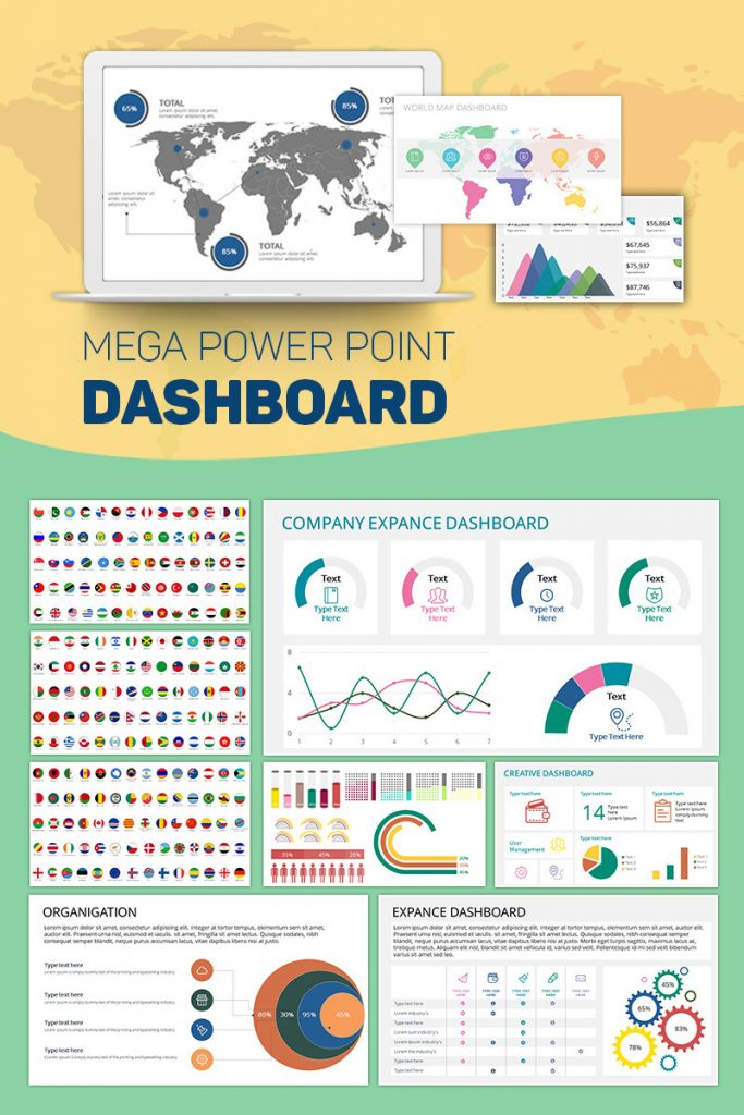 900+ Unique Powerpoint Presentation Templates - Mega Powerpoint Dashboard