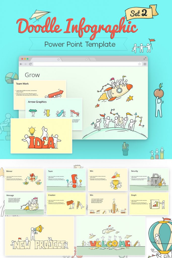 900+ Unique Powerpoint Presentation Templates - Doodle Infographic