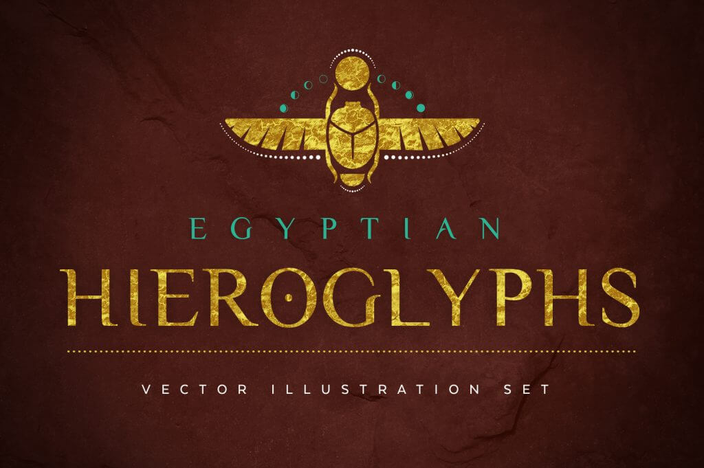 Creative Graphic Design - Cosmic Bundle: Egyptian Hieroglyphs 1