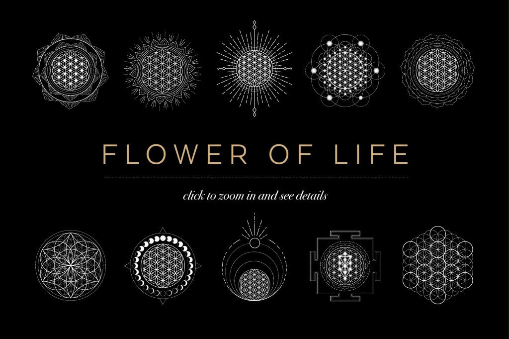 Creative Graphic Design - Cosmic Bundle: Flower Of Life 2