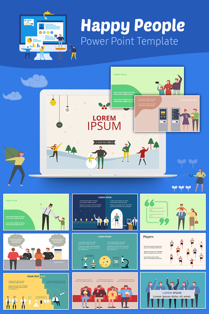 900+ Unique Powerpoint Presentation Templates - happy People