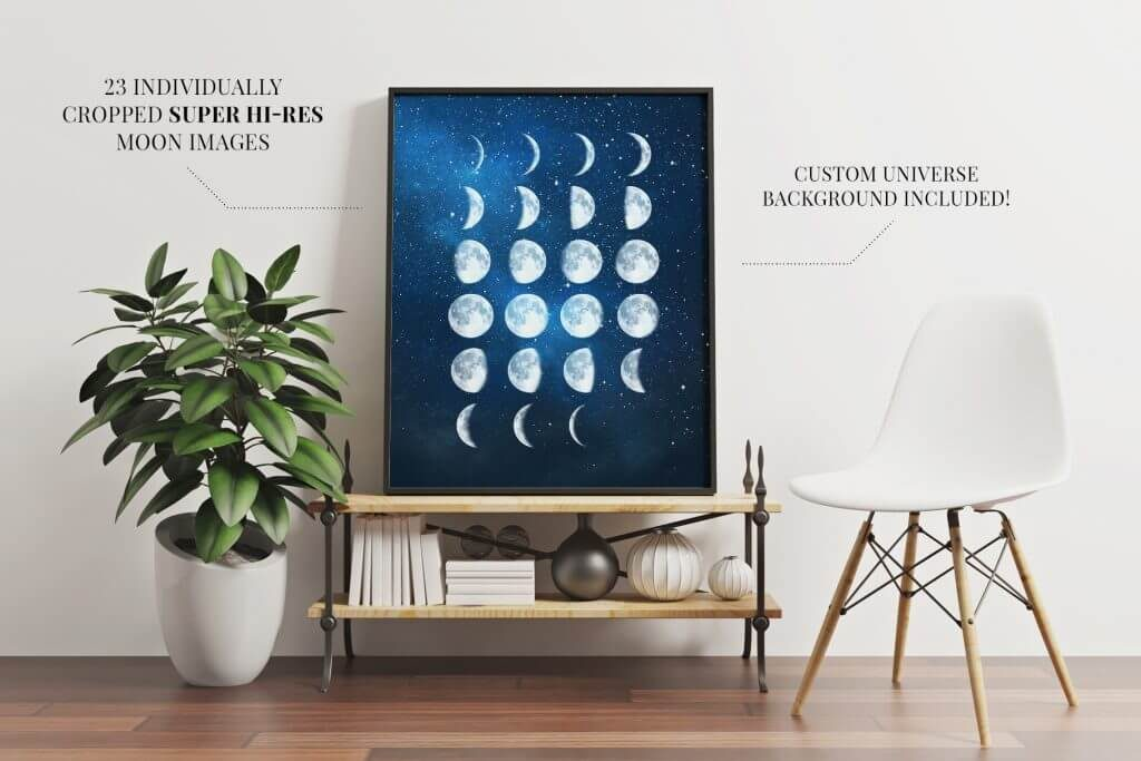 Creative Graphic Design - Cosmic Bundle: Moon Cycle - 3
