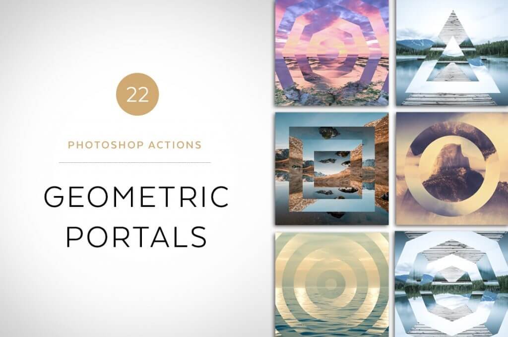 Creative Graphic Design - Cosmic Bundle: Geometric Portals - 1