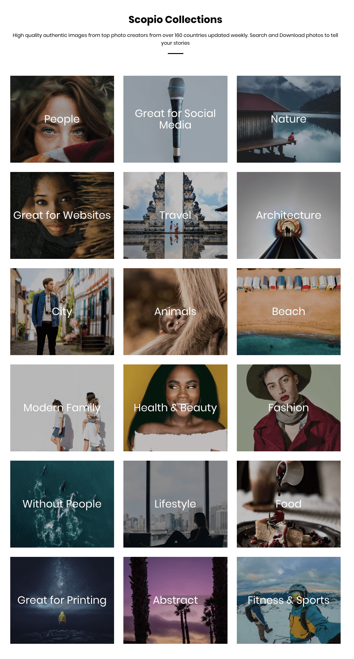 Scopio Royalty Free Photos Subscription - Collection List