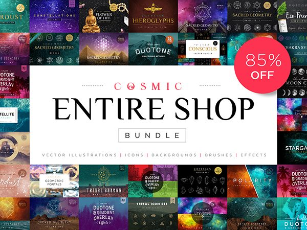 Cosmic Entire Shop Bundle Of 700+ Creative Graphic Designs