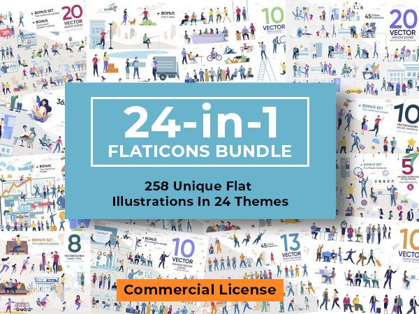 24-in-1 Flaticons Bundle