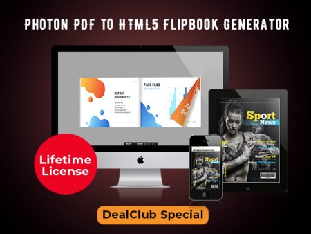 Photon PDF to HTML5 Flipbook Generator For A Lifetime | DealClub