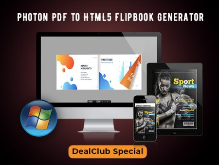 Photon PDF to HTML5 Flipbook Generator For A Lifetime | DealClub