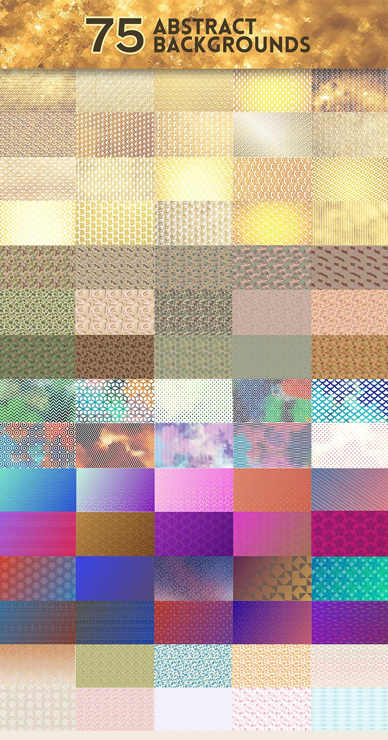 75 Abstract Background Design Previews