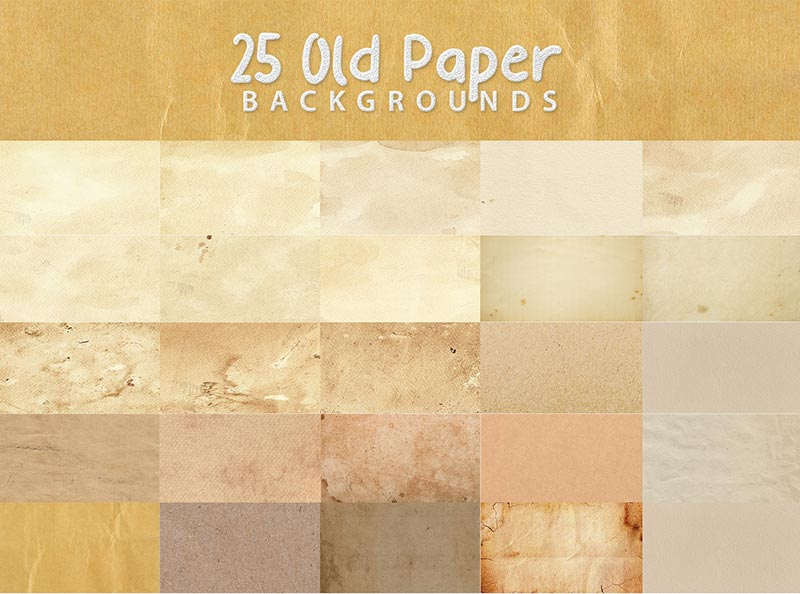 25 Old Paper Background Design Previews