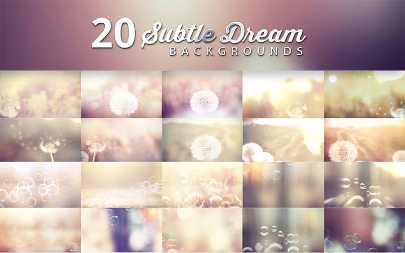 20 Subtle Dream Background Design Previews