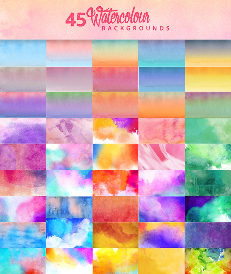 45 Watercolour Background Design Previews