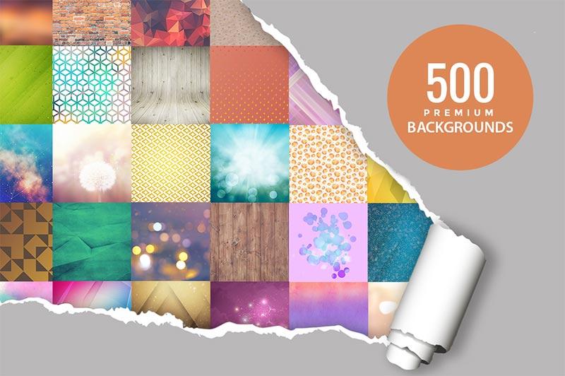 500 Premium Background Design Mega Bundle