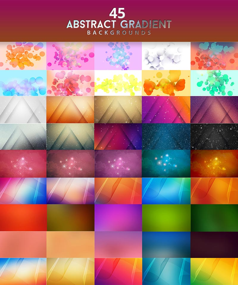 45 Abstract Gradient Background Design Previews