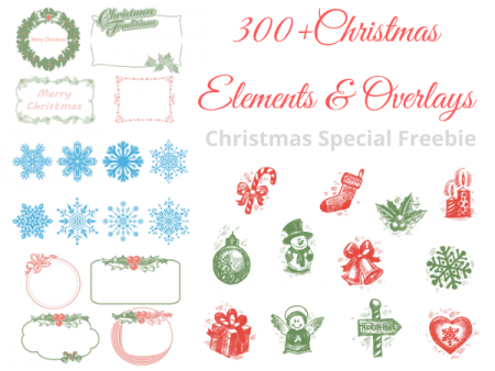 Chritsmas Elements and Overlays Freebie