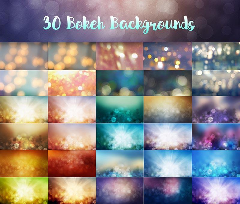 30 Bokeh Background Design Previews