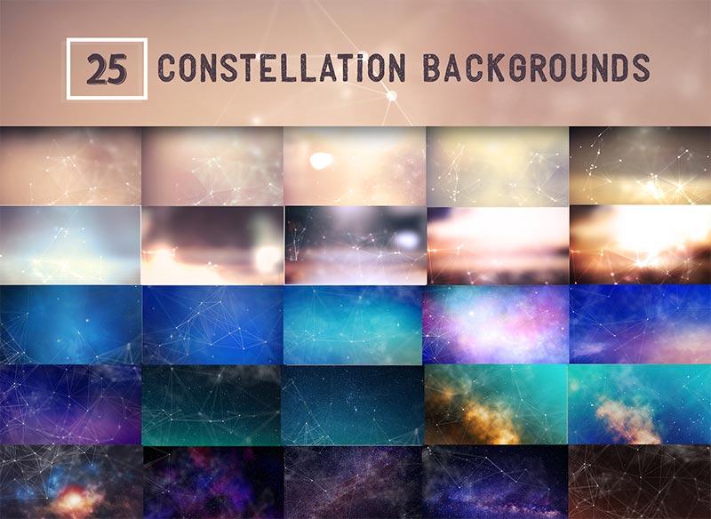 25 Constellation Background Design Previews