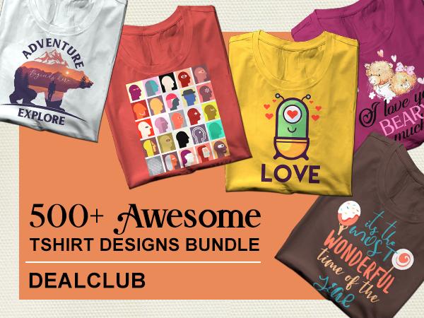 500+ Awesome Tshirt Design Bundle