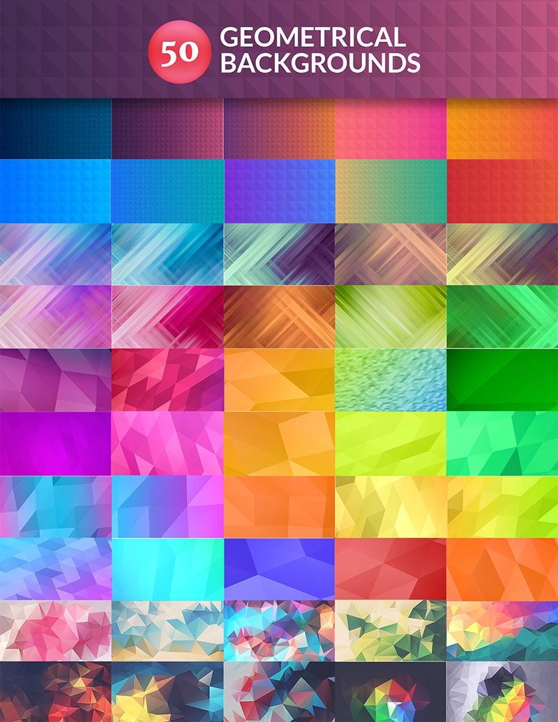 50 Geometrical Background Design Previews