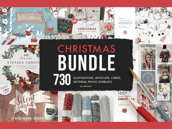 Christmas Bundle of 730 Elements Feature Image