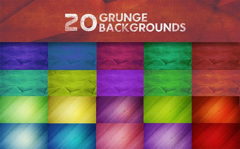 20 Grunge Background Design Previews
