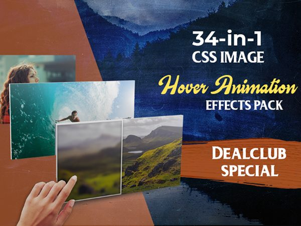 34-in-1 CSS Image Hover Animation Effects Pack