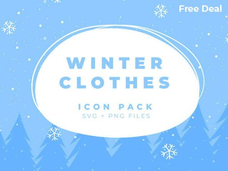 Winter Clothing Icons Freebie Feature Image