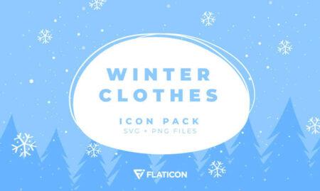 Winter Clothes Icon Freebie