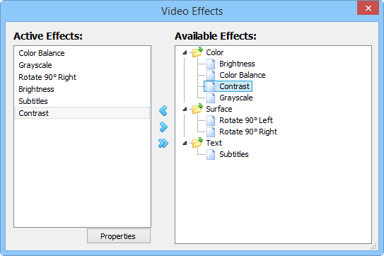 Best Media Player For Windows - Video Effects