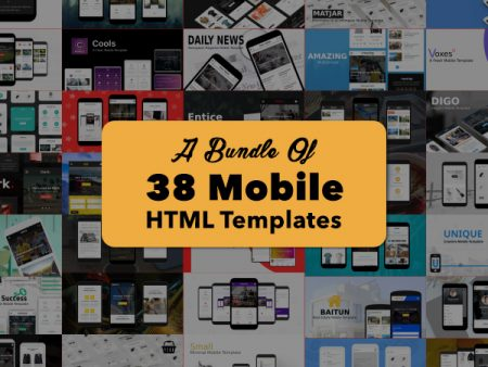 A Bundle Of 38 Mobile HTML Templates With Lifetime Support