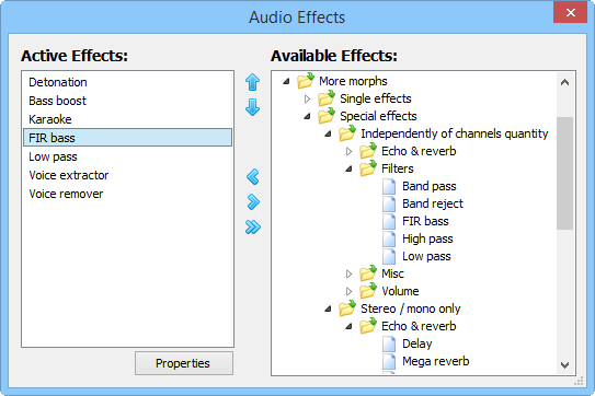 Best Media Player For Windows - Audio Effects