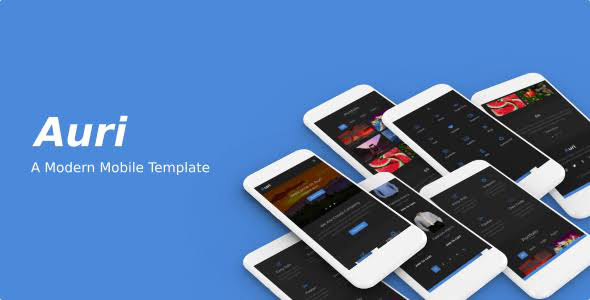 Auri Mobile HTML Template