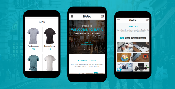Bara Mobile HTML Template