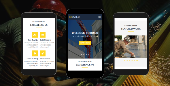 Build Construction Mobile HTML Template