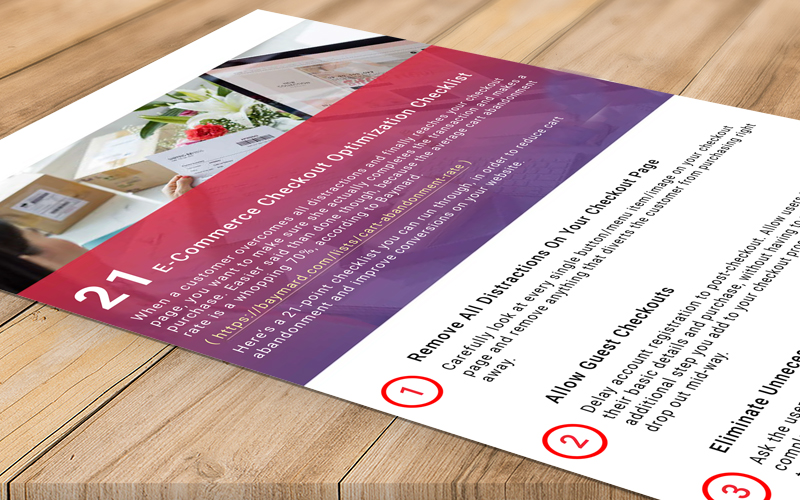 HumCommerce Checkout Page Optimization Checklist Preview