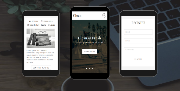 Clean Personal Blog Mobile HTML Template