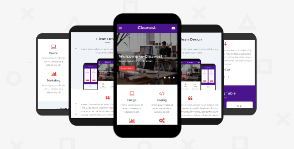 Cleanest Mobile HTML Template