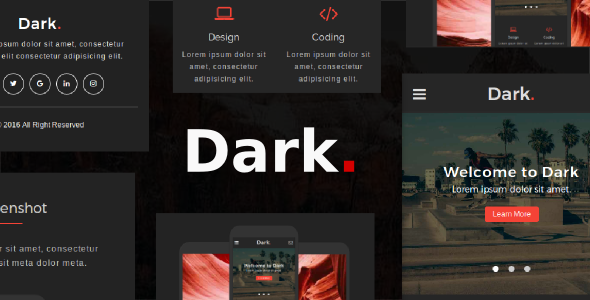 Dark Multipurpose Mobile HTML Template