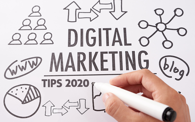 Digital Marketing Tips 2020- blog feature image